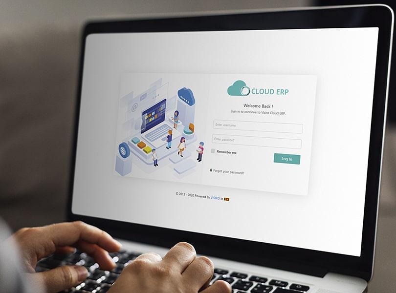 Visiro Cloud ERP Application