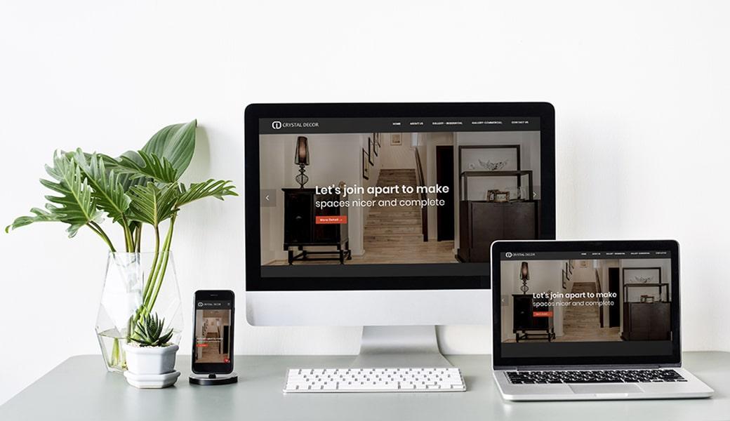 Crystal Exhibits Website Design