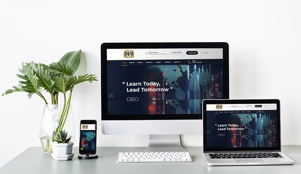 Global Technological Campus Website Design