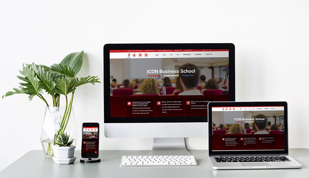Icon Business School Website Design
