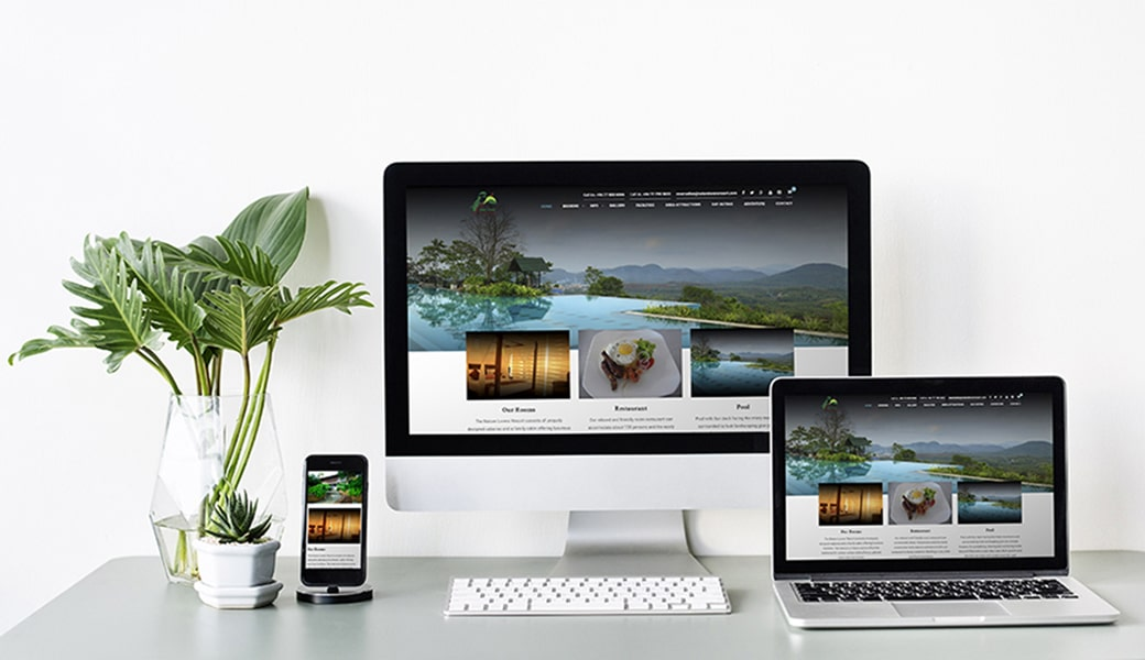 Nature Lovers Resort Website Design