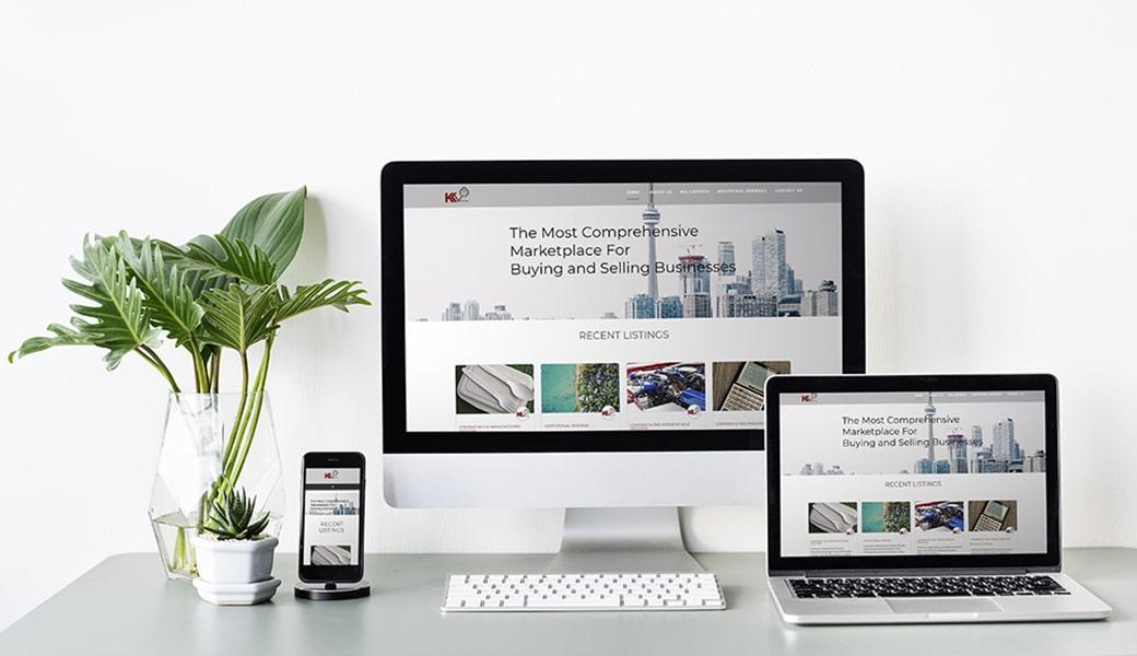 K Venture Website Design